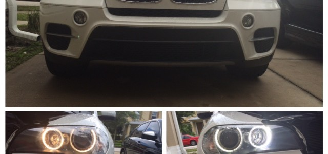 LUX Angel Eyes Installed on a BMW E70 X5